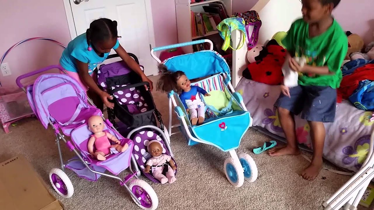 American Girl You And Me I Coo Doll Stroller Youtube