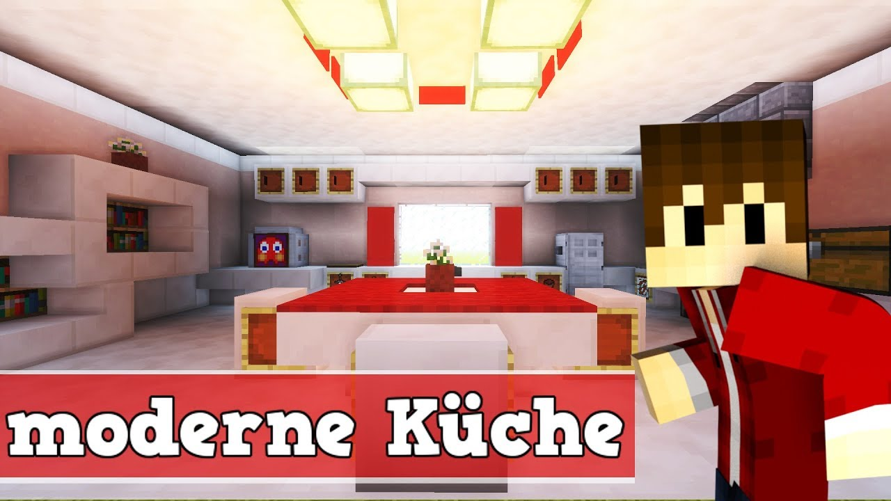 wie baut man eine moderne k che in minecraft minecraft k che bauen deutsch youtube. Black Bedroom Furniture Sets. Home Design Ideas