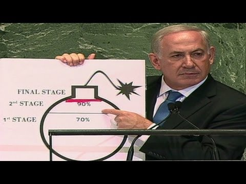 Netanyahu diagrams Iran's nuclear status