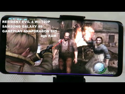 Samsung Galaxy S9 Wii Resident Evil 4 2x Resolution Dolphin Emulator Gameplay Snapdragon 845 4gb RAM