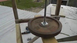VAWT Wind Turbine blade assembly prototype continued Free Energy DIY Green
