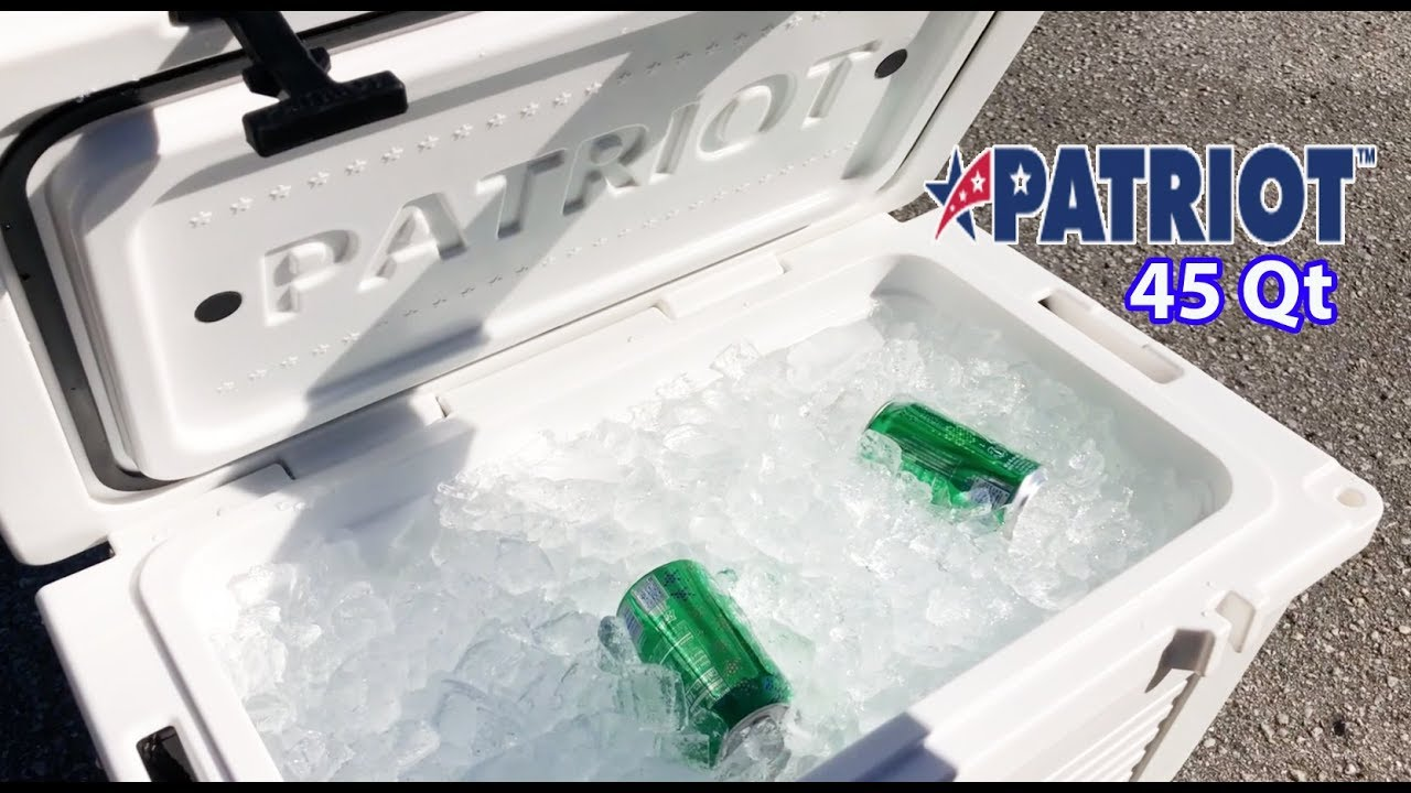 Patriot Coolers 45 Quart Cooler Ice Test & Review