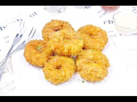 กุ้งโดนัทชีส Shrimp Cheese Donut