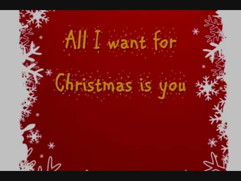 mariah carey all i want for christmas is you lyrics on screen hq youtube