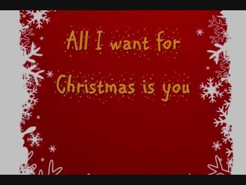 Mariah Carey All I Want for Christmas is you Lyrics On
