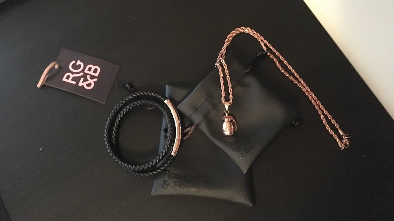 RoseGold and Black Bracelet Grenade Necklace Review YouTube