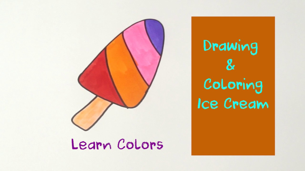 Youtube coloring book - How To Draw Ice Cream Coloring Pages Youtube Videos For Kids Learning Coloring Book Pages