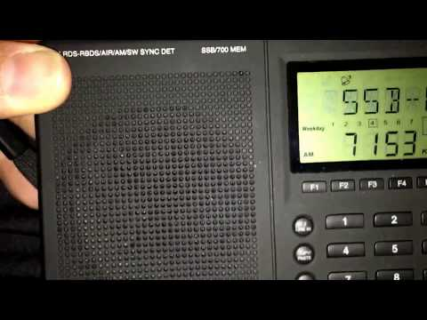 DX On a portable radio OK1CF Czech Republic 40meters