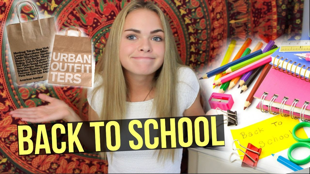 BACK TO SCHOOL HAUL// clothing&supplies (Brandy Melville, UO, American Apparel+more)