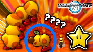 10,000% Tiny Tracks STRETCHED in Mario Kart Wii - Star Cup