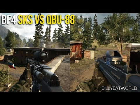 Download Battlefield 4 (PS4) - SKS vs QBU-88 Weapon Comparison - DMR Review (BF4 Gameplay)