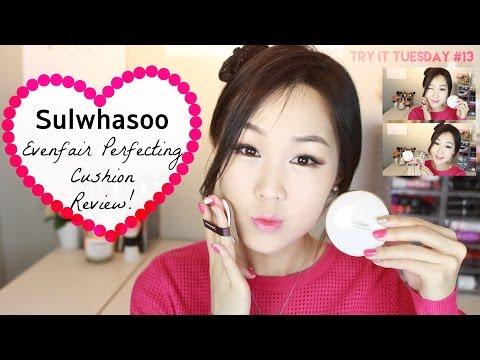 Sulwhasoo Perfecting Cushion Review! ♥ vs. Laneige, Hera, Iope XP   설화수 퍼펙팅쿠션 리뷰! #TryItTuesday