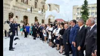 Ilham Aliyev attends opening of Balakan Center of Culture