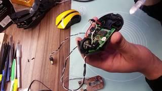 Ремонт кнопки у компьютерной мыши A4Tech G9-310