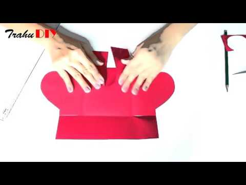 DIY Envelope Paper heart card Gift    Make for Boyfriend Girlfriend
