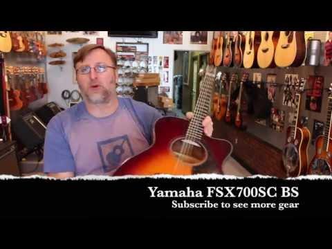 Yamaha FSX700SC BS Solid Top Guitar