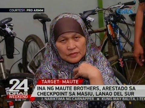 Ina ng Maute brothers, arestado sa checkpoint sa Masiu, Lanao del Sur