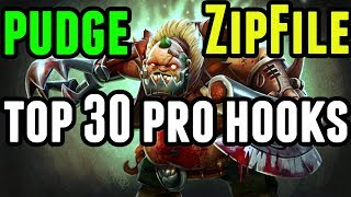 Dota 2 Pudge Pro Hooks -Top 30 (2017) - [ZipFile] Vol.1 - Patch 7.07c Gameplay