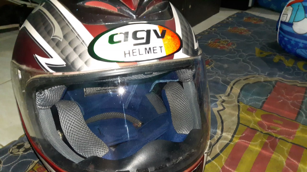 Helm AGV Helmet Old And The Stickers Is HELMET29 THE MANIAC 2X Iam Happy So
