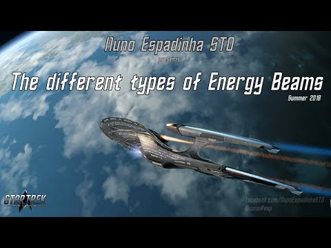 The different types of Energy Beams and Experimental weapons - STO