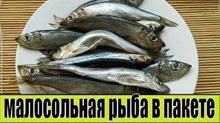 Малосольная рыба в пакете. Как приготовить малосольную рыбу.