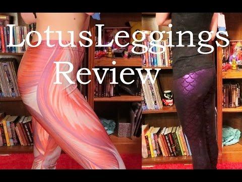 LOTUS LEGGINGS REVIEW!! Attack On Titan/Muscle Leggings And Purple Mermaid Leggings