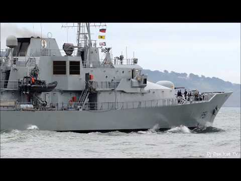 Roisin L/E navy ship leaving Dublin Port