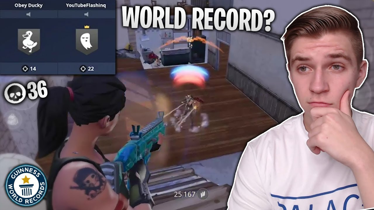 we almost Broke a Fortnite Mobile WORLD RECORD! (squads ...
