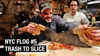 How to Make a Pizza Cutter from Trash | NYC FLOG #5