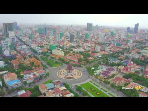 Phnom Penh Day & Night Drone View |4K|