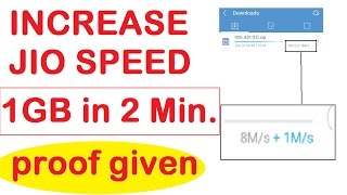 How to Increase Jio Internet Speed | 1 GB in 2 Minutes | PROOF ADDED