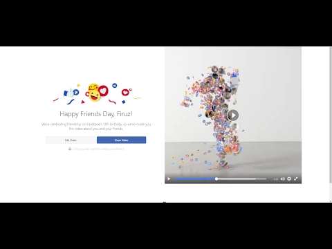 12th Anniversary of FACEBOOK: Friendship Day from YouTube · Duration:  58 seconds