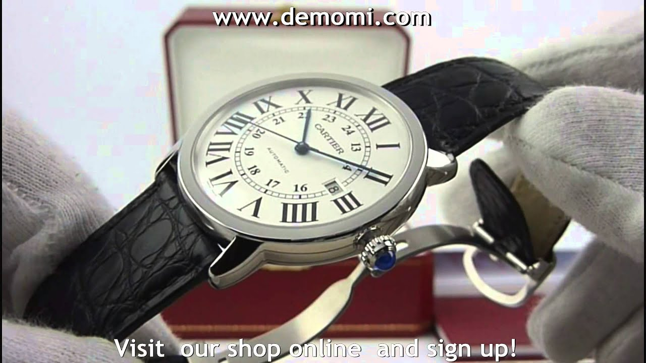 592902833eb1 Cartier ronde automatic steel - YouTube