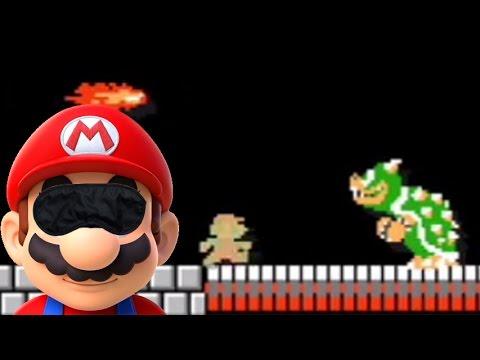 Super Mario Maker -Part 198- Blindfolded 100 Mario Challenge Easy