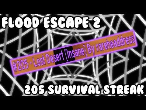 Roblox Flood Escape 2 205 Rooms Survived Solo Streak Youtube