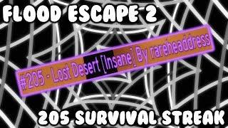 ROBLOX - Flood Escape 2: 205 Rooms Survived Solo Streak