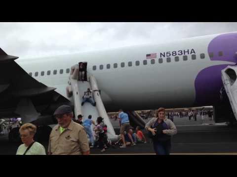 Hawaiian Airlines HA-24 Emergency Evacuation at Kahului Airport