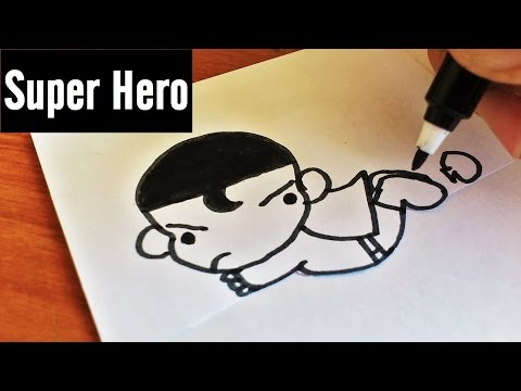 5 Cute Chibi American Super-hero Doodle | Marvel Comics & DC Comics