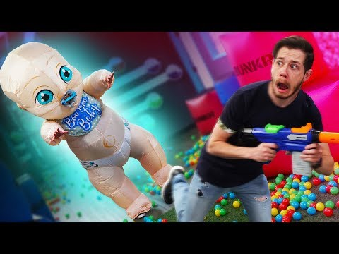Don't Wake the GIANT Baby Challenge!
