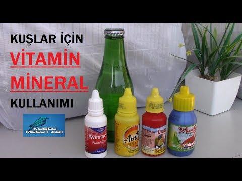 Kafes Kuslari Icin Vitamin Ve Mineral Nasil Kullanilir