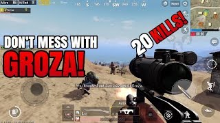Don't Mess With GROZA! | 20 Kills FPP Solo VS Squad - Crown Tier | PUBG Mobile