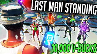 Last Man Standing Wins 10,000 V-Bucks but it gets CRAZY... (Fortnite)