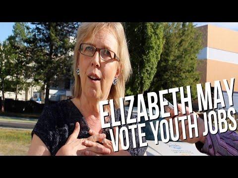 Elizabeth May - Vote Youth Jobs