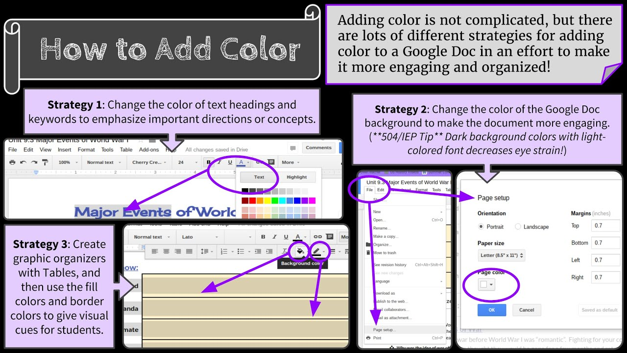 How to color in google docs - Adding Color To Google Docs