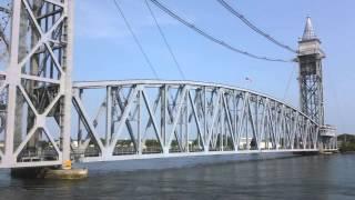 MBTA CapeFLYER Crosses the Cape Cod Railroad Bridge