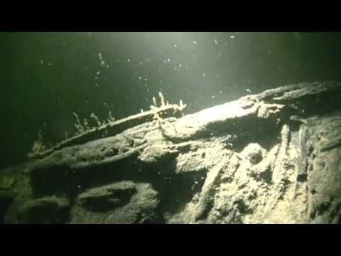 "German U-boat U-1105 ""Panther"" dive in remarkably clear water"