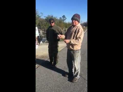 Dennis J. Price picks the winner at WWALS kayak raffle drawing 2017-12-10