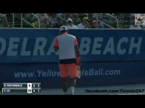 Yen-hsun Lu Vs Bjorn Fratangelo Highlights Delray Beach 2017