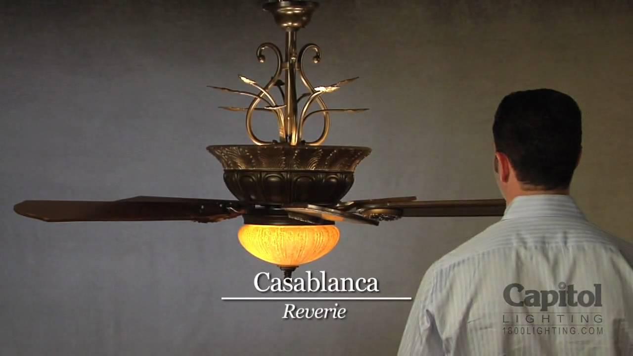 casablanca fan company capitol lighting lighten up series youtube