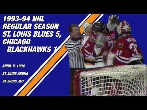 St. Louis Blues 5, Chicago Blackhawks 1: April 5, 1994